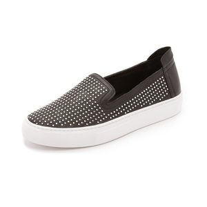 Rachel Zoe Studded Slip On Sneakers
